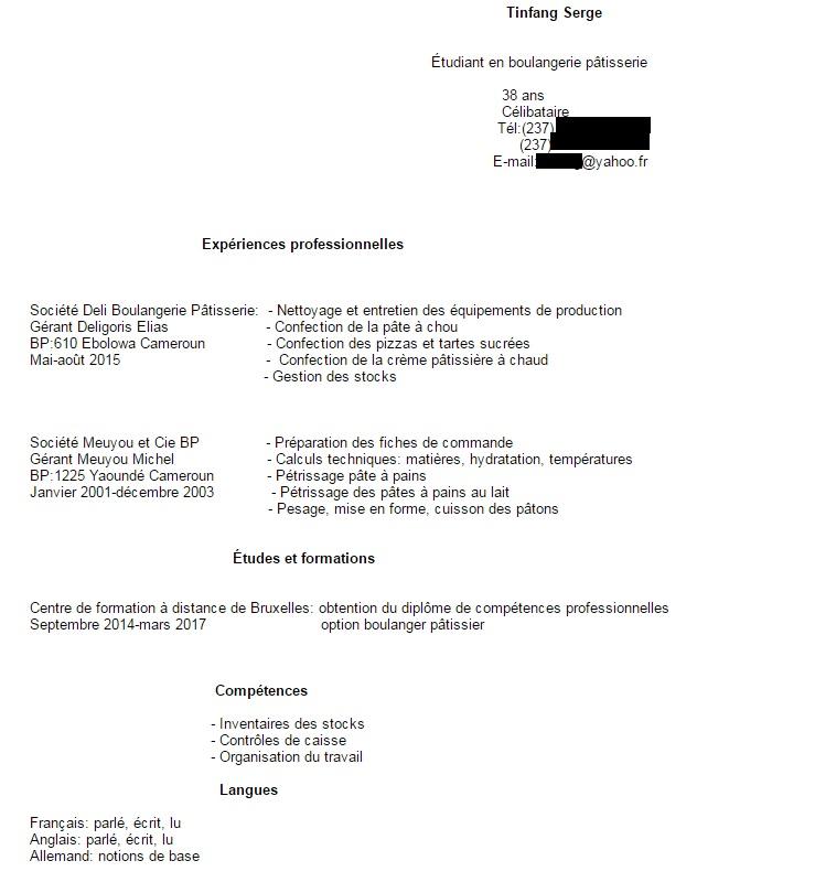 recherche stage en belgique pour un stagiaire camerounais